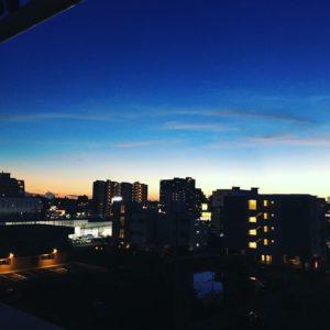 北谷町の空 黄昏時