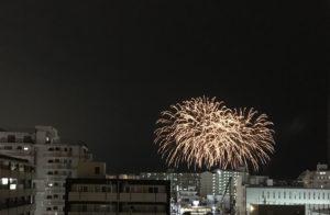 ヒルトン沖縄北谷リゾートからの花火