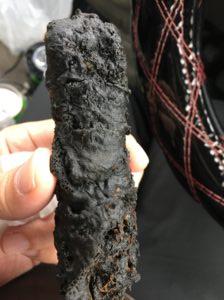 島天ぷら平助の黒い天ぷら