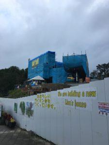 建築途中のライオン舎