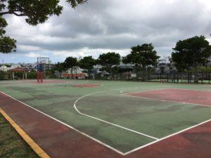 宜野湾市のいこいの市民パークのバスケットコート