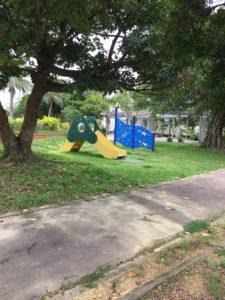 上勢頭北公園の小さな子ども用の遊具