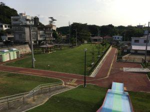 北谷町にある北玉公園の広場