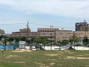 砂辺馬場公園のスケボーができるスペース