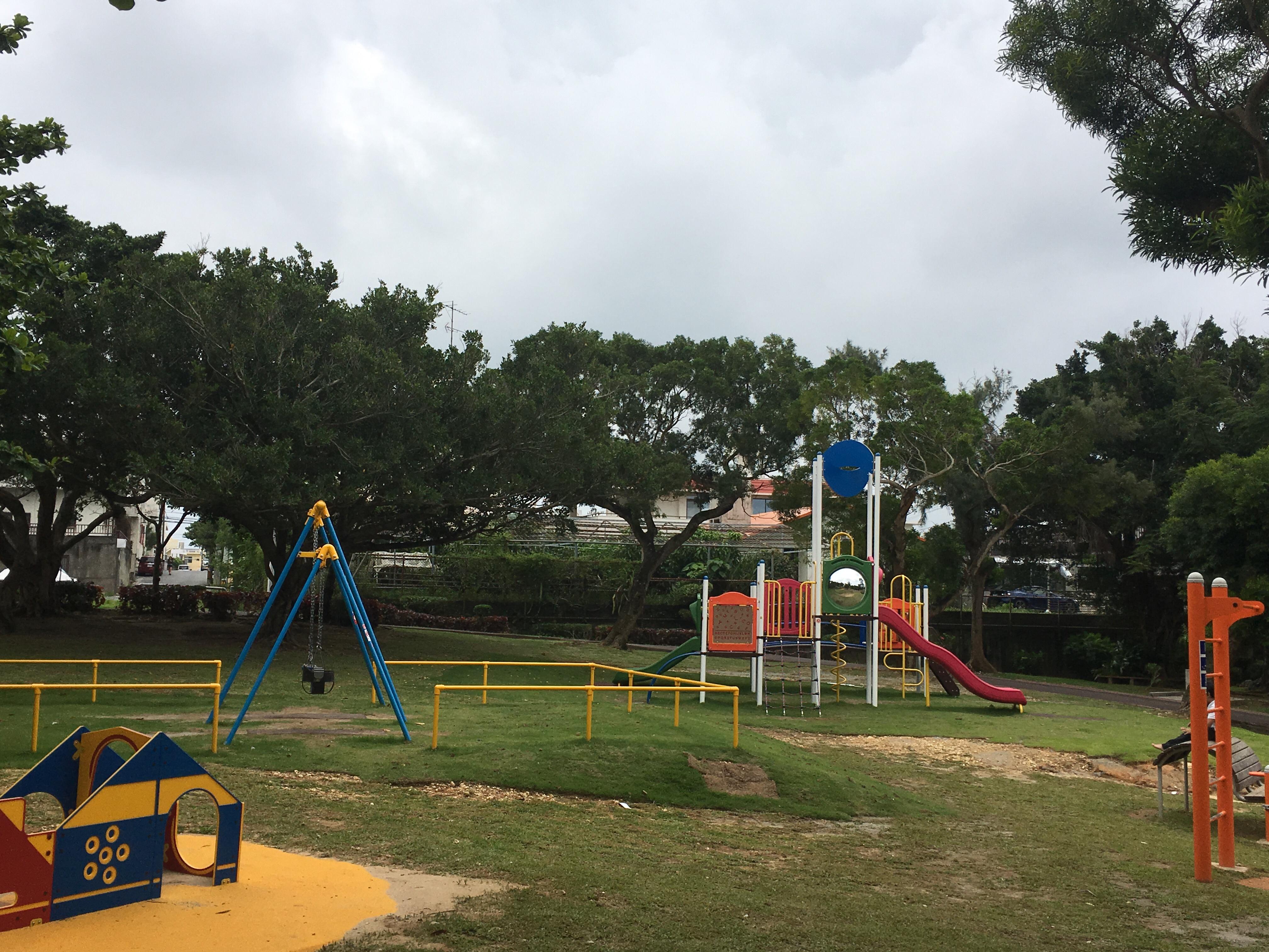 桑江公園の新しい遊具