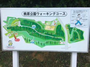 桃原公園のウォーキングコース