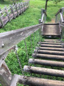 八重島公園の遊具広場の滑り台