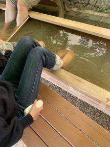 伊計島のホテルの足湯