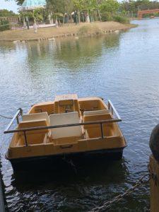 沖縄にある県総の貸しボート