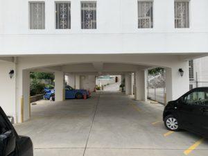 ばくばく亭の駐車場