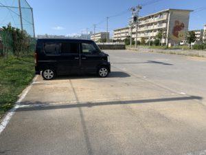 宮城屋外運動場の駐車場