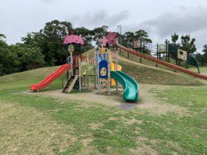 八重岳桜の森公園にある幼児から遊べる遊具