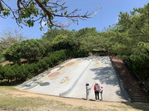 森川公園の大きな滑り台
