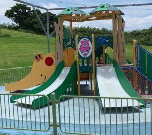 読谷にあるセーラの森公園の幼児用遊具